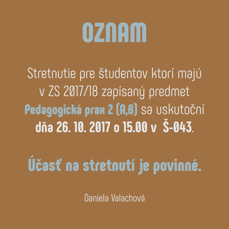 a91d96a5a Pedagogická prax 2 (A,B)