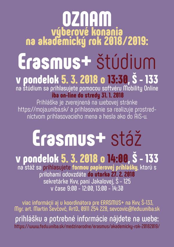 75fa5889e79a Erasmus+ stáž výberové konanie na absolventskú stáž 2018 2019